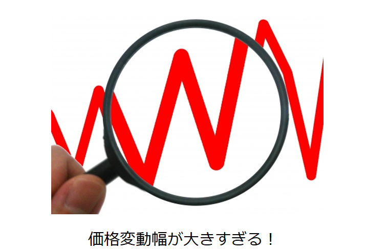 仮想通貨(暗号資産)の価格変動リスク